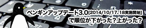 ペンギンアップデート3.0[2014/10/17、18実施開始]で順位が下がった?上がった?