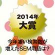 今年凄い検索数が増えたSEM用語は?